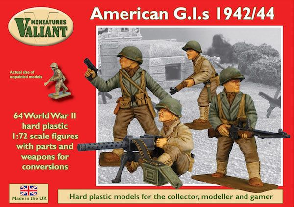 Valiant Miniatures 1/72 WWII American GIs 1942/44 # VM003