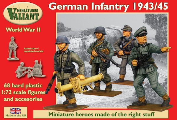 Valiant Miniatures 1/72 WWII German Infantry 1944/45 # VM002