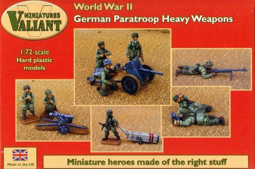 Valiant Miniatures 1/72 WWII German Paratroopers & Heavy Weapons