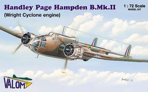Valom 1/72 Handley Page Hampden B. Mk.II (Wright Cyclone Engine)