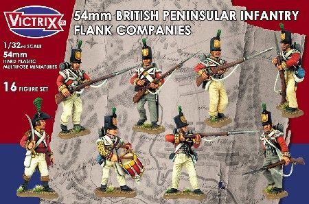 Victrix 1/32 54mm British Peninsular Infantry Flank Company # VX5401