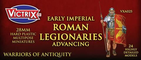 Victrix 28mm Early Imperial Roman Legionaries Advancing # VXA025