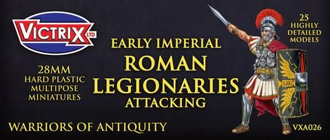 Victrix 28mm Early Imperial Roman Legionaries Attacking # VXA026
