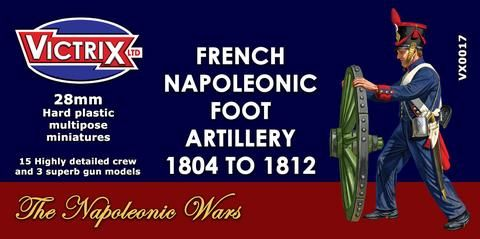 Victrix 28mm French Napoleonic Foot Artillery 1804-1812 # VX0017