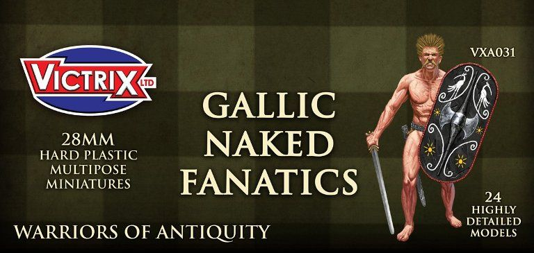 Victrix 28mm Gallic Naked Fanatics # VXA031