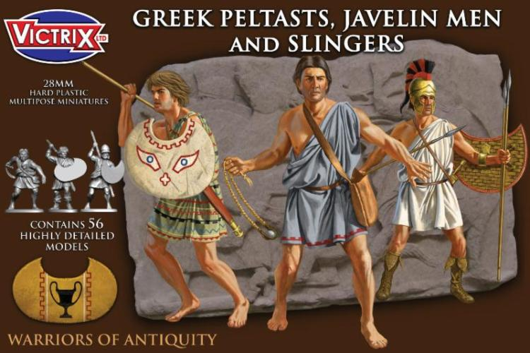 Victrix 28mm Greek Peltasts,Javelin men and Slingers # VXA006