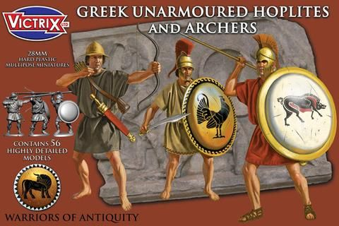 Victrix 28mm Greek Unarmoured Hoplites and Archers # VXA005