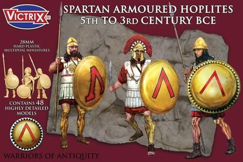 Victrix 28mm Spartan Armoured Hoplites 5th to 3rd Century BCE #