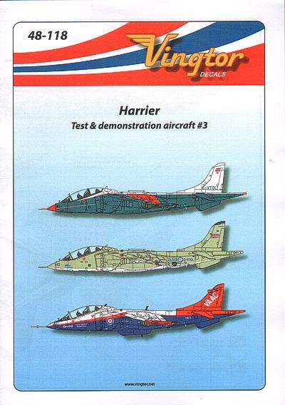 Vingtor 1/48 BAe Harrier - Test & Demonstration Aircraft No.3 #