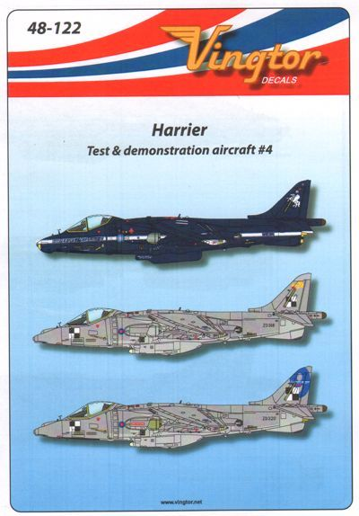 Vingtor 1/48 BAe Harrier - Test & Demonstration Aircraft No.4 #
