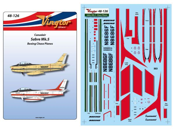 Vingtor 1/48 Canadair Sabre Mk.5 - Boeing Chase Planes # 48126