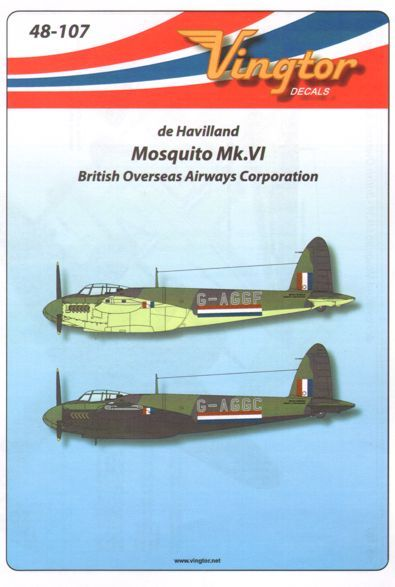 Vingtor 1/48 de Havilland Mosquito Mk.VI British Overseas Airway