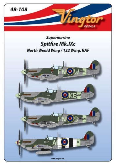 Vingtor 1/48 Supermarine Spitfire Mk.IXc North Weald 132 Wing RA