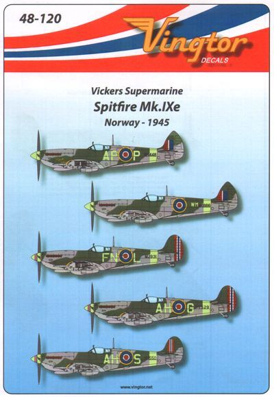 Vingtor 1/48 Supermarine Spitfire Mk.IXe - Norway 1945 # 48120