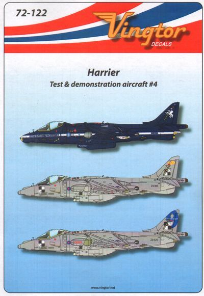 Vingtor 1/72 BAe Harrier - Test & Demonstration Aircraft No.4 #