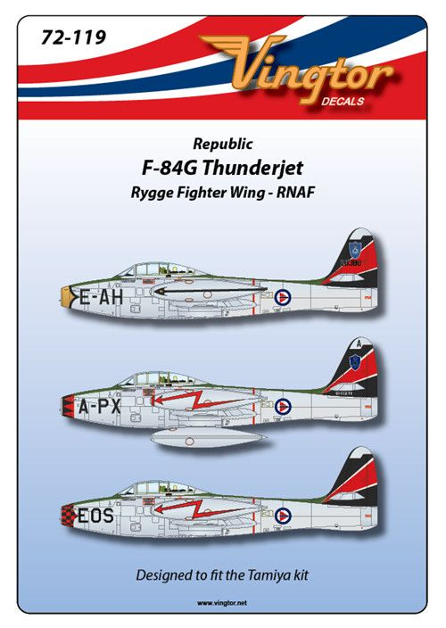 Vingtor 1/72 RNAF Republic F-84G Thunderjet # 72119