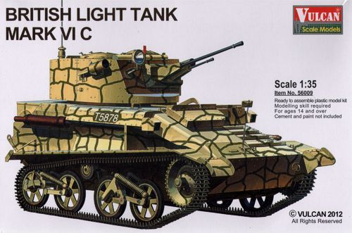 Vulcan 1/35 Mk. VIC British Light Tank # 56009