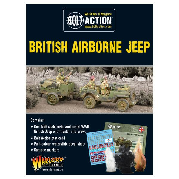 Warlord Games 1/56 Bolt Action British Airborne Jeep # 402411107