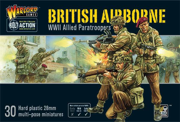 Warlord Games 28mm Bolt Action British Airborne WWII Allied Paratroopers # 402011009