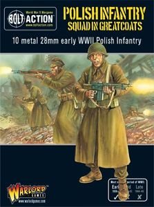 Warlord Games 28mm Polish Infantry Squad in Greatcoats # WGB-PI-04