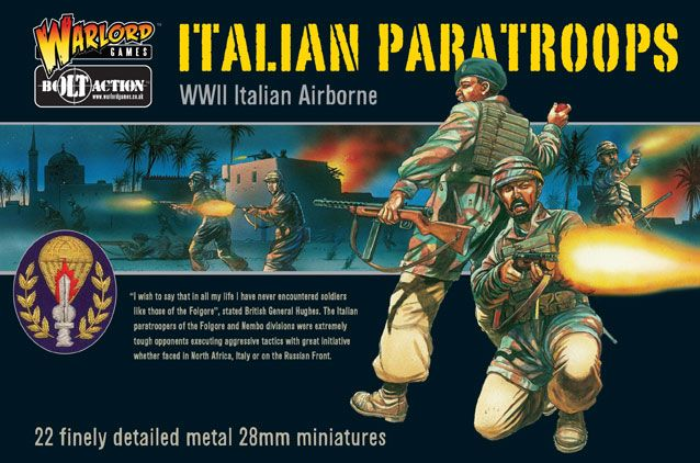 Warlord Games 28mm WWII Italian Paratroops # WGB-IA-01