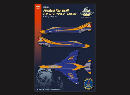 Wingman Decals 1/48 Phantom Pharewell F-4F 37+01 'First In - Last Out' # D48003