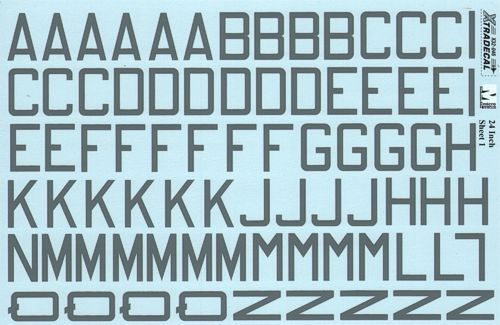 "Xtradecal 1/32 RAF Code Letters & Numbers 24"" Medium Sea Grey Double Sheet # 32046"