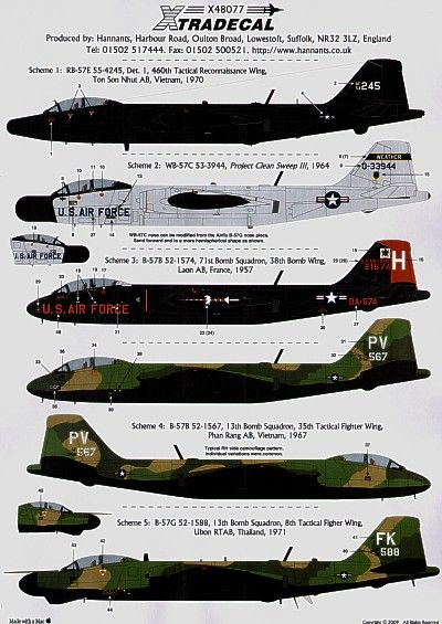 Xtradecal 1/48 B-57 Canberra Part 2 # 48077