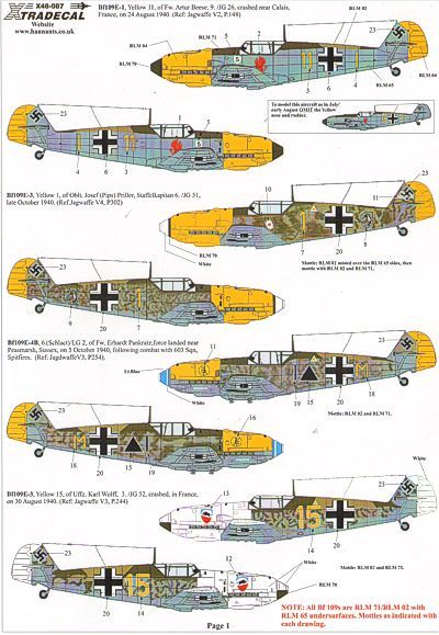 Xtradecal 1/48 Battle of Britain Luftwaffe # 48087