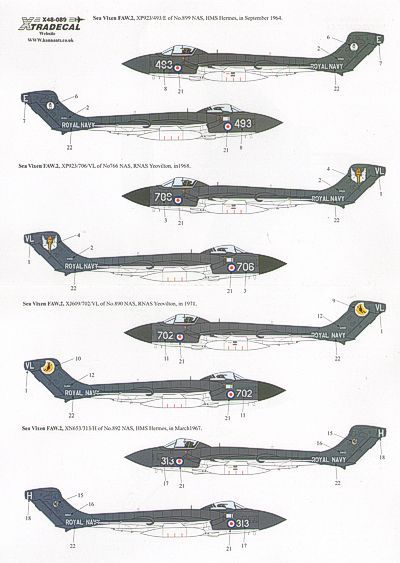 Xtradecal 1/48 De Havilland Sea Vixen FAW.2 # 48089