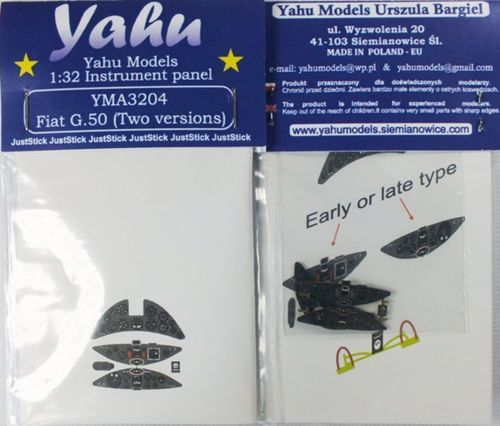 Yahu Models 1/32 Fiat G.50bis Photoetched Instrument Panels # YMA3204