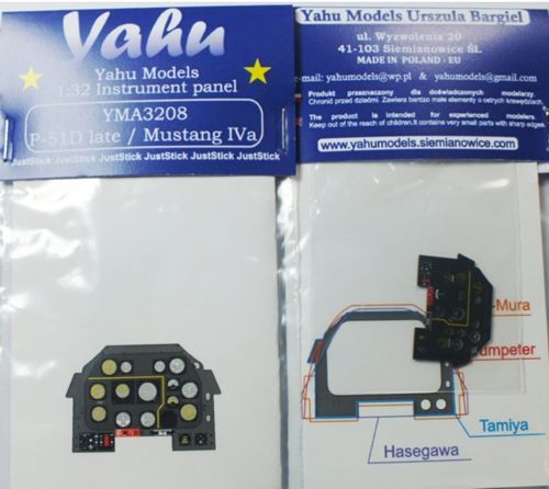 Yahu Models 1/32 North-American P-51D Mustang Photoetched Instrument Panels # YMA3208