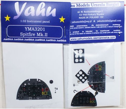 Yahu Models 1/32 Supermarine Spitfire Mk.IIa Photoetched Instrument Panel # YMA3201