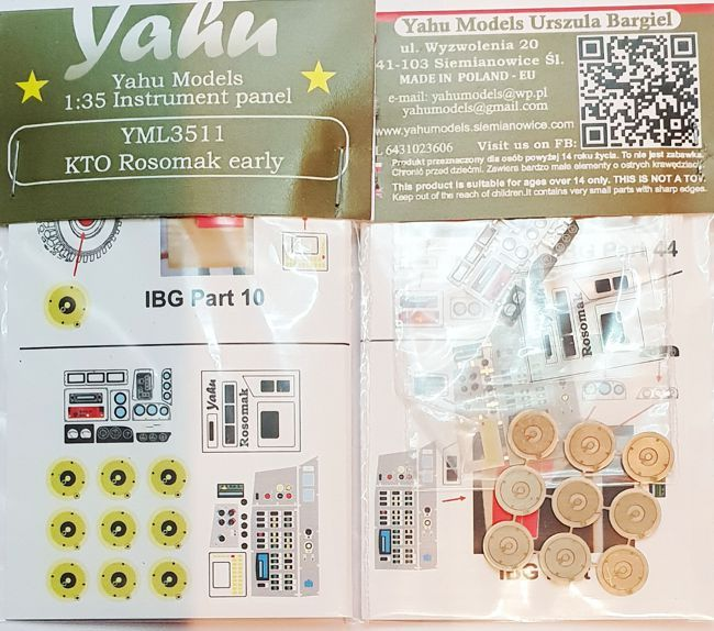 Yahu Models 1/35 KTO Rosomak Early Instrument Panel # YML3511