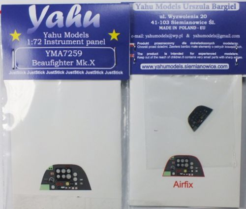 Yahu Models 1/72 Bristol Beaufighter Mk.X Photoetched Instrument Panels # YMA7259
