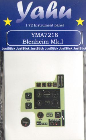 Yahu Models 1/72 Bristol Blenheim Mk.IF Photoetched Instrument Panels # YMA7218