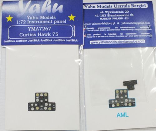 Yahu Models 1/72 Curtiss-Hawk H-75 Photoetched Instrument Panels # YMA7267
