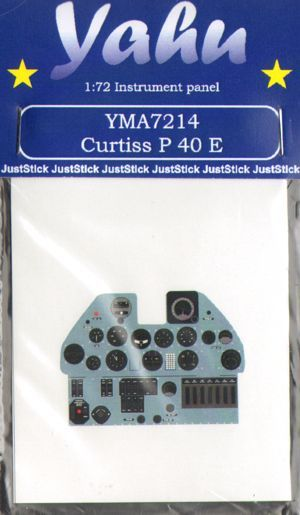 Yahu Models 1/72 Curtiss P-40E Photoetched Instrument Panels # YMA7214