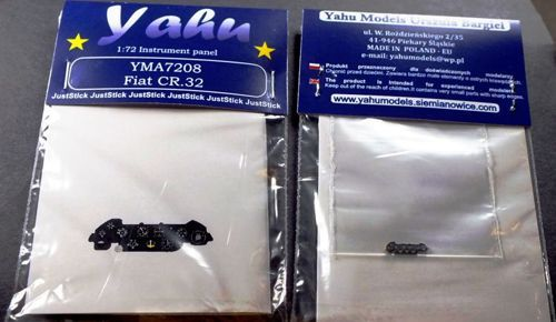 Yahu Models 1/72 Fiat CR.32 Photoetched Instrument Panels # YMA7208