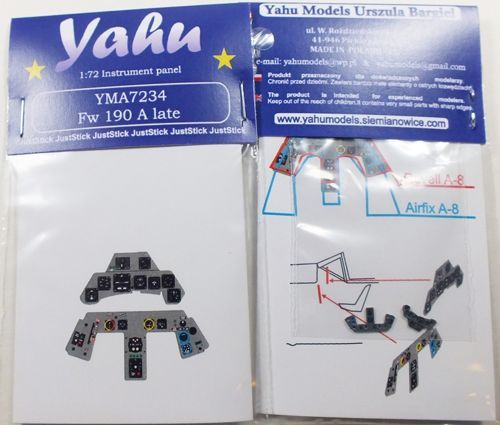 Yahu Models 1/72 Focke-Wulf Fw-190A Late Photoetched Instrument Panels # YMA7234