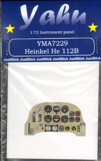 Yahu Models 1/72 Heinkel He-112B Photoetched Instrument Panels # YMA7229