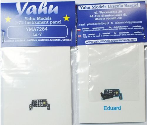 Yahu Models 1/72 Lavochkin La-7 Photoetched Instrument Panels # YMA7284