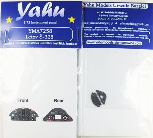 Yahu Models 1/72 Letov S.328 Photoetched Instrument Panels # YMA7258
