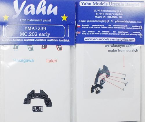 Yahu Models 1/72 Macchi C.202 Early Photoetched Instrument Panels # YMA7239