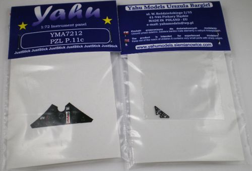 Yahu Models 1/72 PZL P.11C Photoetched Instrument Panels # YMA7212