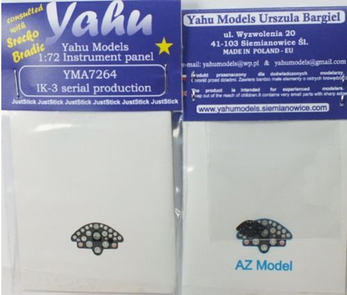 Yahu Models 1/72 Rogozarski IK-3 Photoetched Instrument Panels # YMA7264