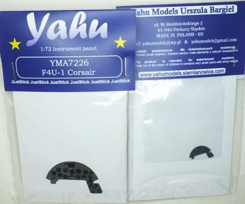 Yahu Models 1/72 Vought F4U-1/1A/1D Corsair Photoetched Instrument Panels # YMA7226