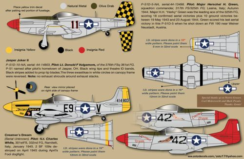 Zotz 1/32 P-51D Mustangs in WWII # 32038