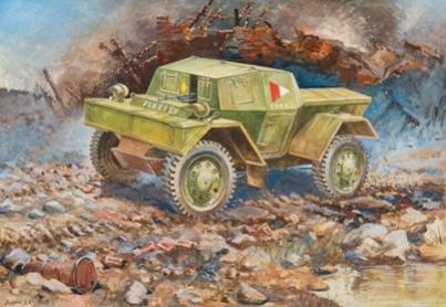"Zvezda 1/100 British Armored Scout Car ""Dingo"" Mk.I # 6229"