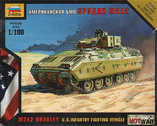 Zvezda 1/100 M2A2 Bradley U.S. Infantry Fighting Vehicle # 7406